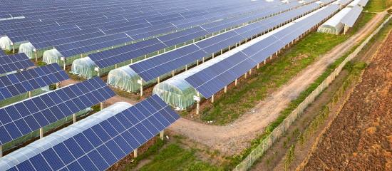 Installation de panneaux solaires sur un bâtiment agricole